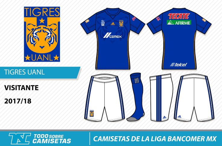 Camisetas de la Liga MX 2017-18 - Tigres