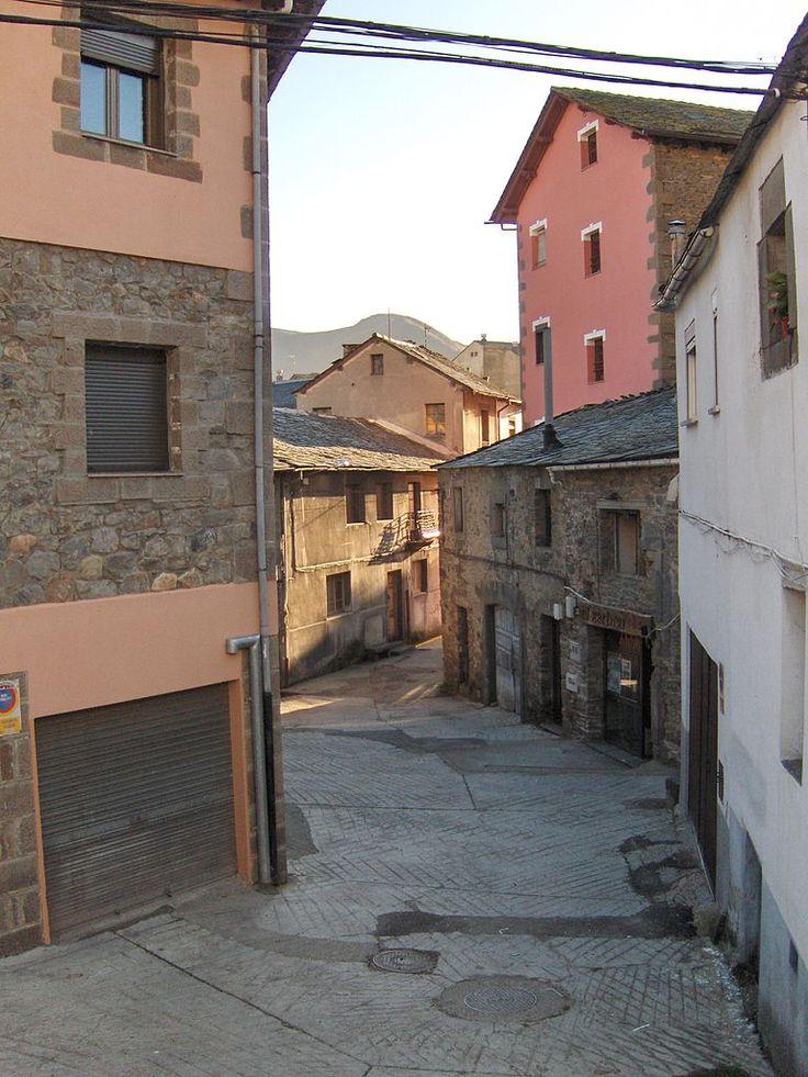 Street in Villablino (León)