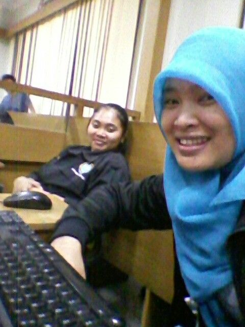 Me and Miss Corry.. She is the next mathematic lecturer