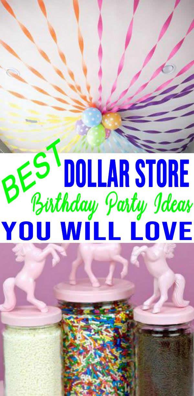 Best Dollar Store Birthday Party Hacks Ideas Dollar Store Crafts To Cr Birthday Party Decorations Diy Birthday Party Hacks Party Decorations Diy Dollar Tree