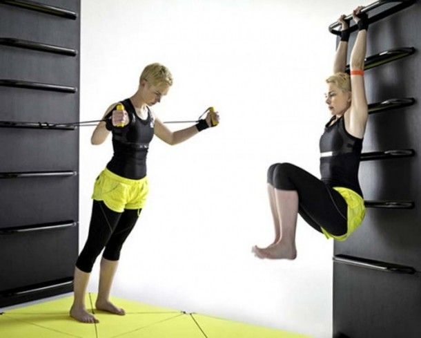space saving furniture home gym 610x489 Idea Store Room Furniture and Home Fitness Equipment Lucie Koldova