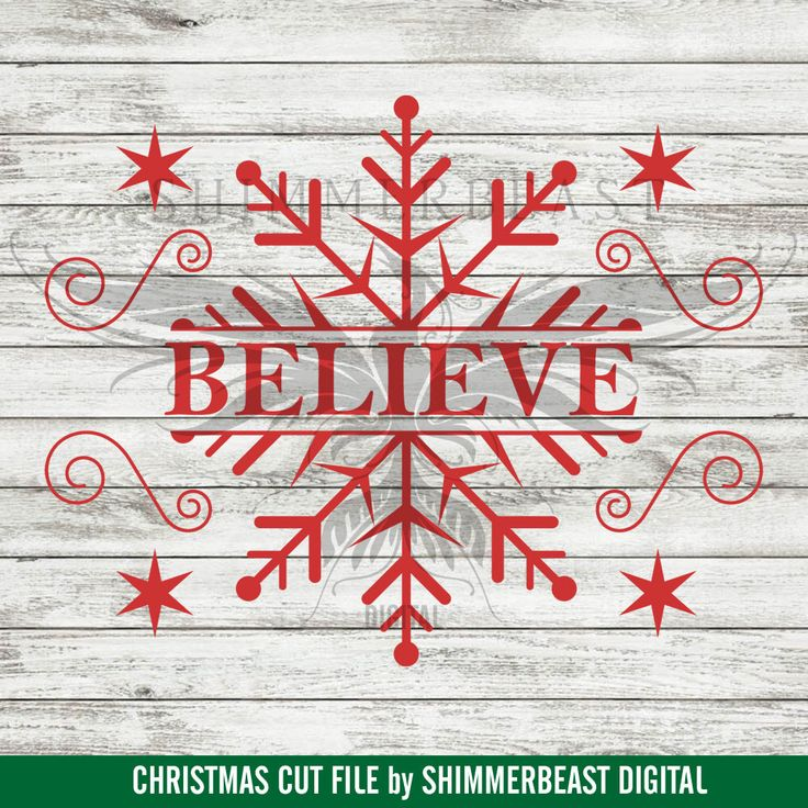 Christmas SVG Cut File | Believe svg