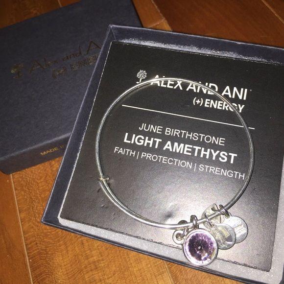 alex and ani june birthstone amethyst bracelet