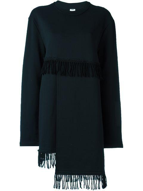DAMIR DOMA fringed detail longsleeved dress. #damirdoma #cloth #流苏细节长袖连衣裙
