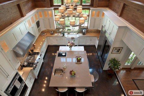 Quante cene con amici in una cucina come questa! #case di #lusso
