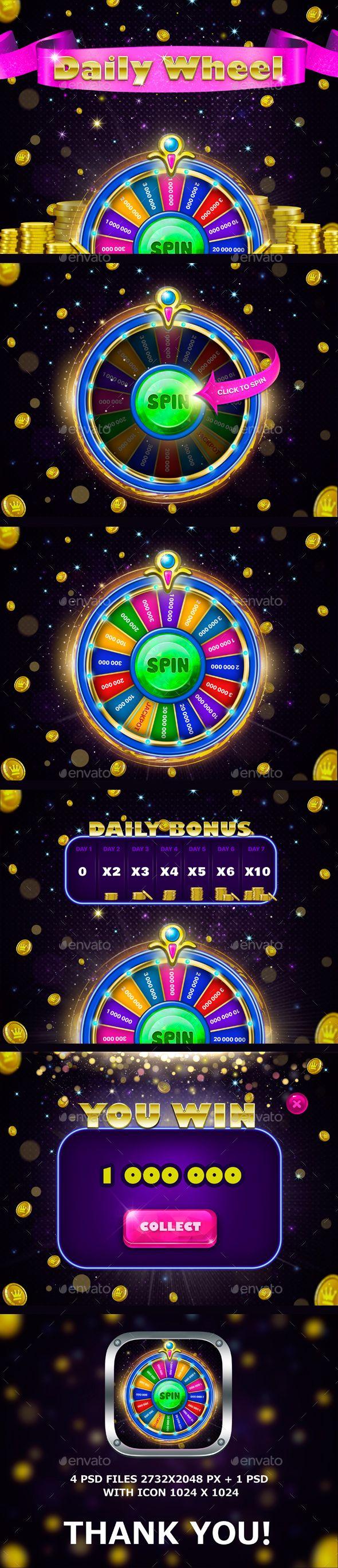 Casino Daily Wheel Set Download here: https://graphicriver.net/item/casino-daily-wheel-set/18458054?ref=KlitVogli
