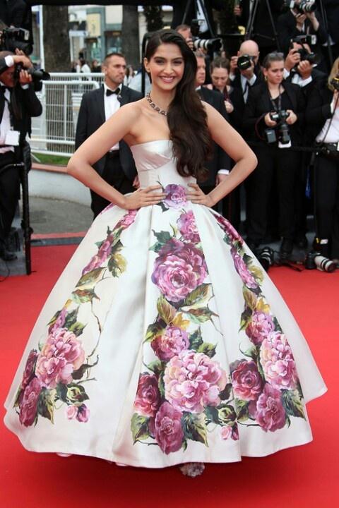 Sonam in custom Dolce & Gabbana - 2013 Cannes