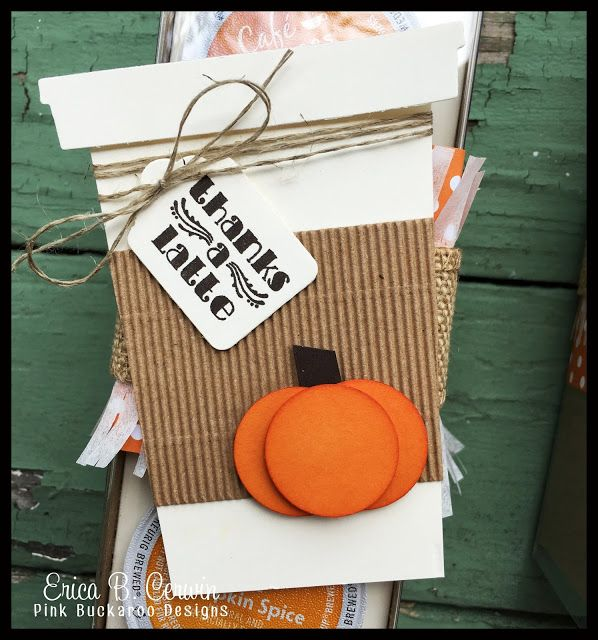 Pink Buckaroo Designs: Pumpkin Spice K-Cup Holder Video Tutorial