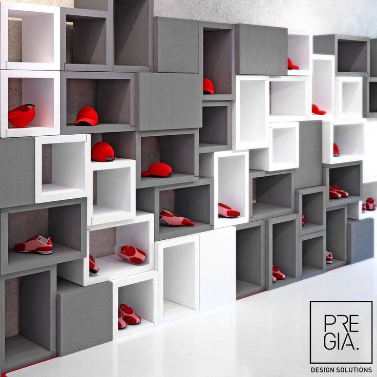Las 25 mejores ideas sobre vitrinas para tiendas en for Muebles para zapatos moderno