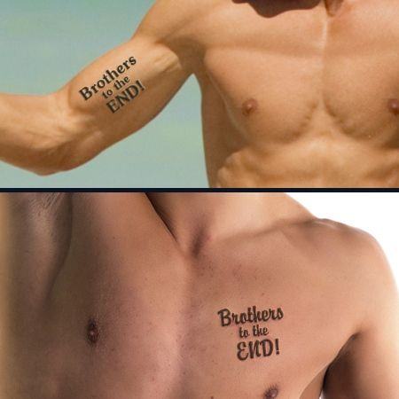 Brother Tattoo Designs Brothers to the end tattoo