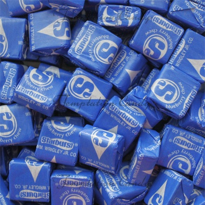 Yummy Blueberry Starburst Candy From Temptation Candy! Hmmm....did you even know that Blueberry Starburst even existed? Well, now you do, enjoy! #BlueCandy #StarburstCandy #Starburst