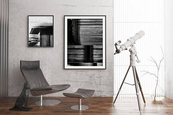 Black and white art prints set inspired by architectural and industrial patterns. Modern geometric compositions with bold lights and shadows, perfect decor for minimal or industrial style interiors. #wallart #walldecor #scandi #b&w #blackandwhite #framed #poster #industrialdecor