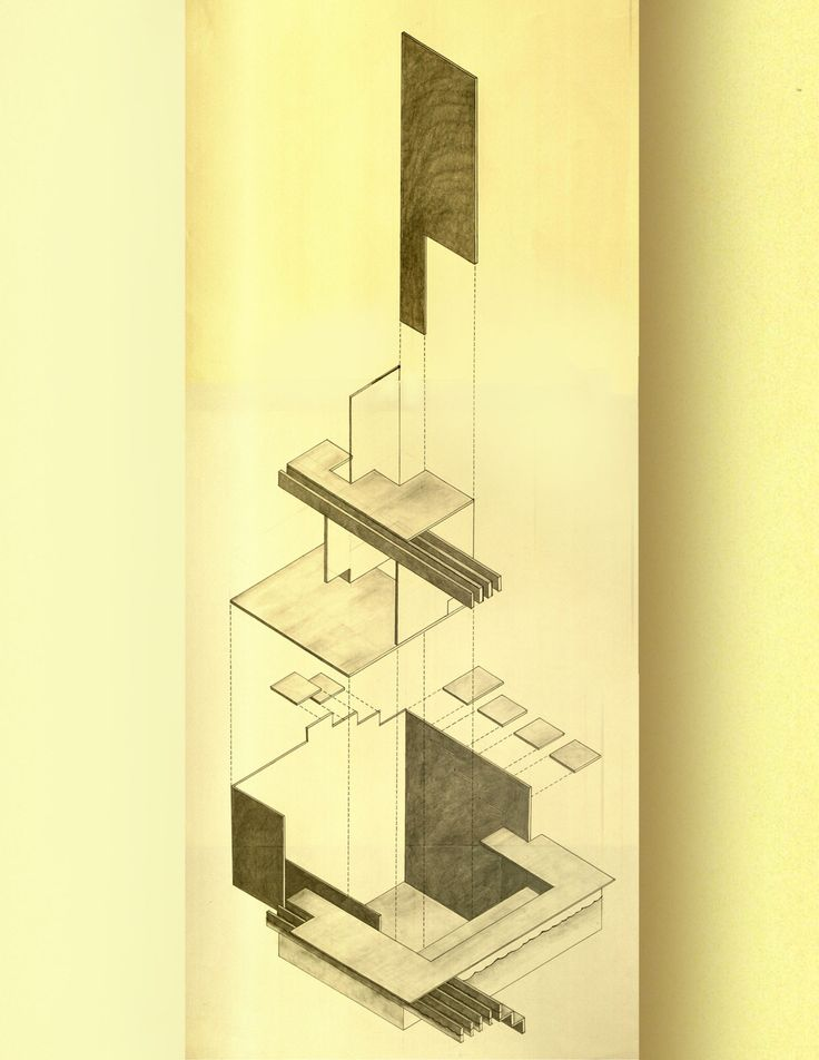 Floating House by Matthew Darmour-Paul. 2011. Graphite. Via #drawingarchitecture