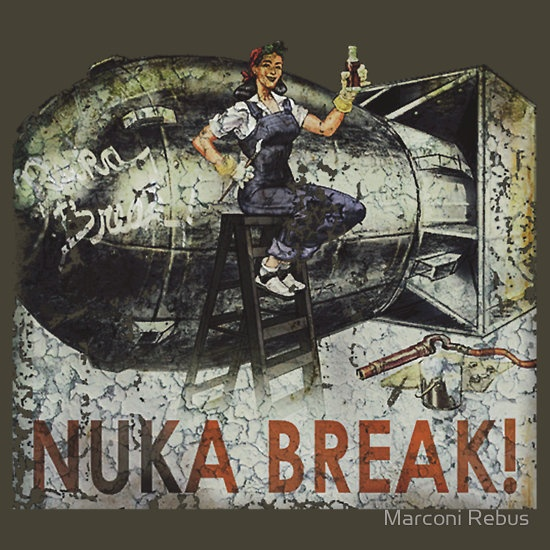Nuka Break! Bought this Tshirt for my kit - then removed the sleeves and collar, ragged it up and aged it even more!