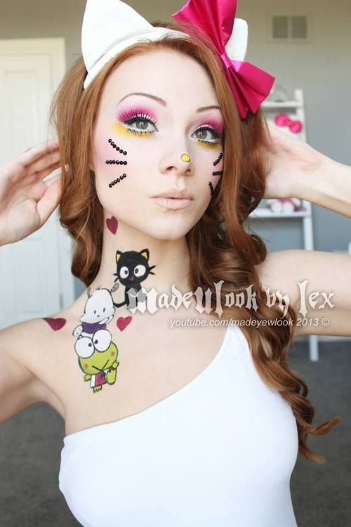 Love this lady's youtube channel. She always has a unique take on things, here is a Hello Kitty inspired makeup look from Made U Look by Lex