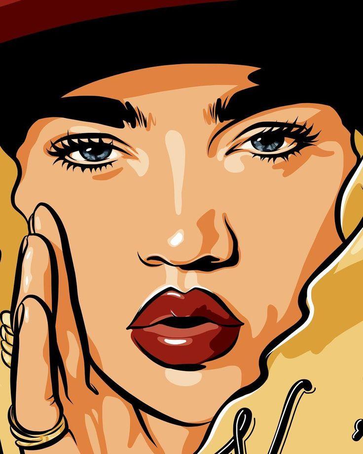 illustration of the day is coming for @mskianaalexis #kianaalexis #portraitillustration #artwork #artofyasin #artwork #model #babe #beauty #adobedraw #vector #thanksforwatching