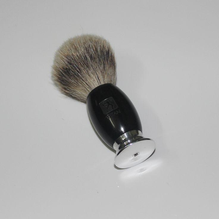 100% Ebony Handle Titan Men Shaving Brush Silvertip Badger Brushes Pincel Badger Hair Knot Brocha De Afeitar Pennello Da Barba #Affiliate