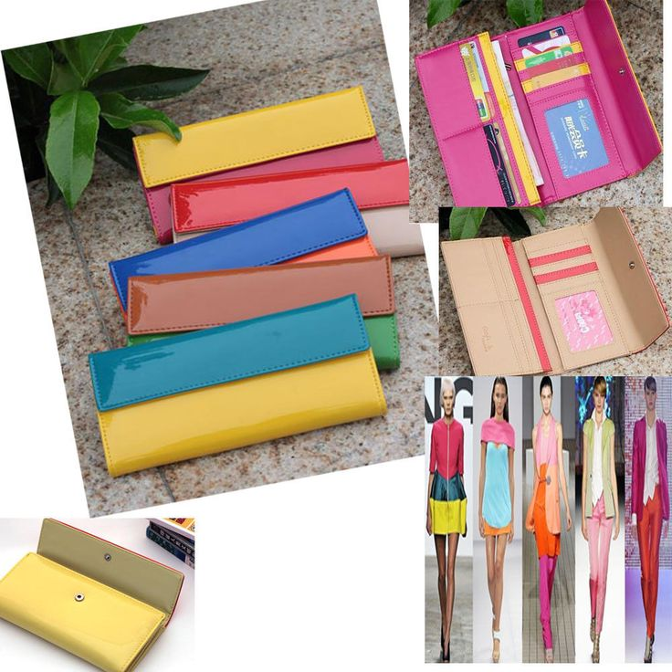Women's Quality Leather Long Wallet Multi-Colors Purse Coin Card Holder Cultch