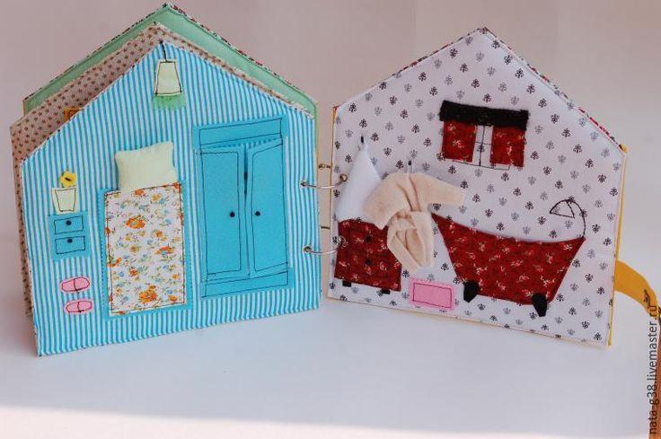 Делаем книжку-домик на разъемных кольцах - Ярмарка Мастеров - ручная работа, handmade
