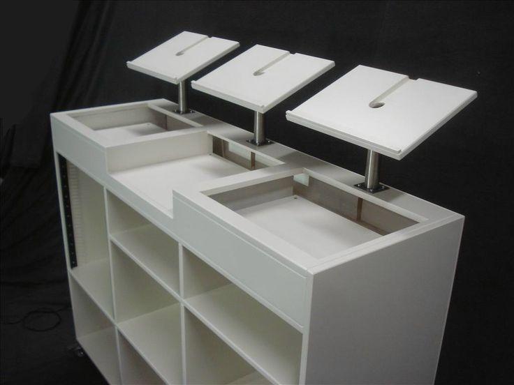 les 46 meilleures images du tableau meuble pour dj sur pinterest stand de dj vinyles et. Black Bedroom Furniture Sets. Home Design Ideas