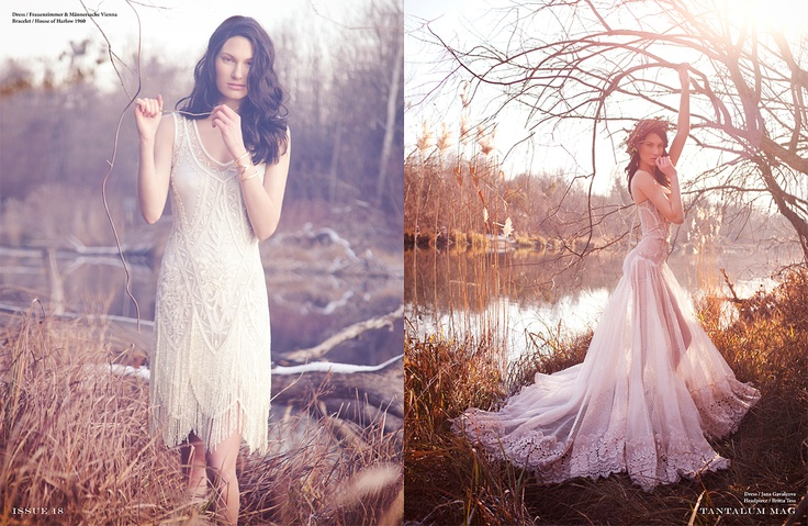Angel of the Mist by Veronika Lucanska / gown long dress by Jana Gavalcova