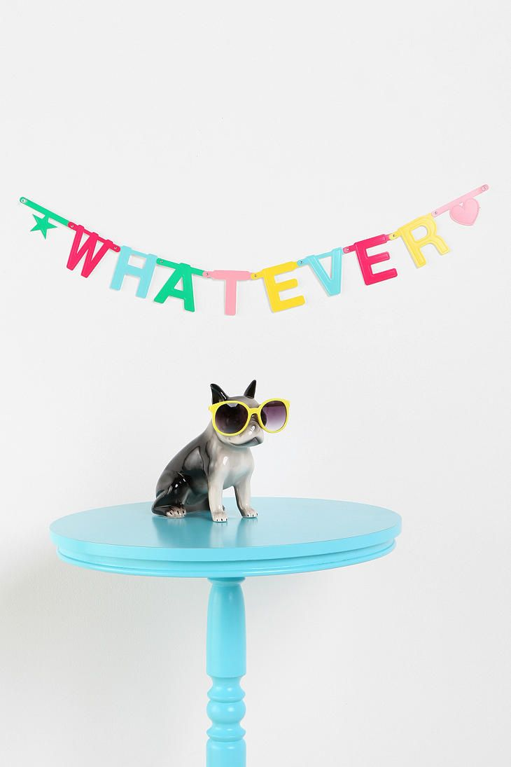 @Michelle Letendre just bought this from urban outfitters for our room its a DIY Banner with 70 letters 20 #s and 10 symbols! So excited to decorate our room!