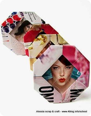 Tutorial: Cornici portafotografie origami in carta riciclata