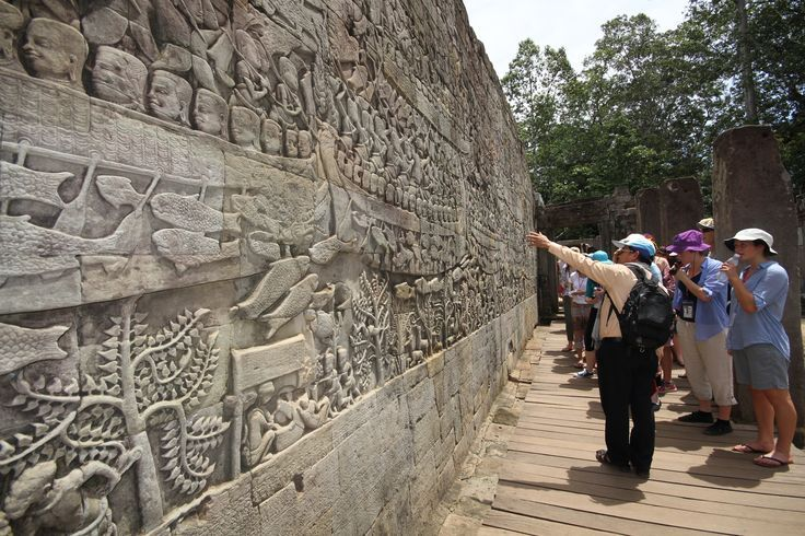 Scratching the surface of the Kingdom of Wonder. #VietnamSchoolTours #Cambodia #SiemReap
