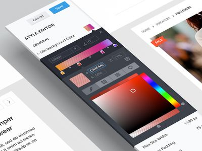 Color & Gradient Editor