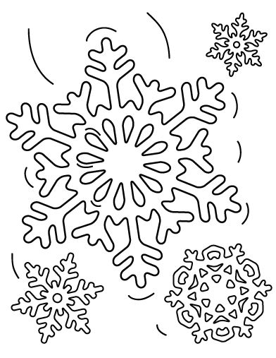 Printable Snowflake Coloring Page Free PDF Download At