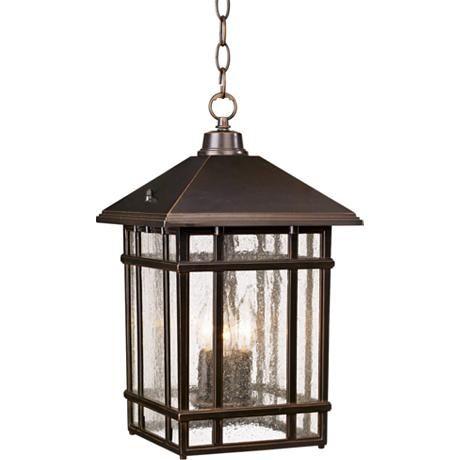 "J du J Sierra Craftsman 16 1/2"" High Outdoor Hanging Light - #26031   Lamps Plus"