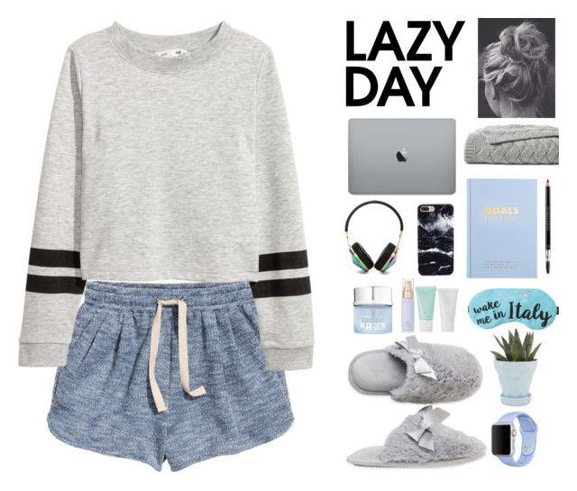 """lazy dayyy"" by fashionistalove58 ❤ liked on Polyvore featuring H&M, Frends, Dearfoams, KORA Organics by Miranda Kerr, La Prairie, Lands' End, kikki.K, Christian Dior, Chive and Apple"