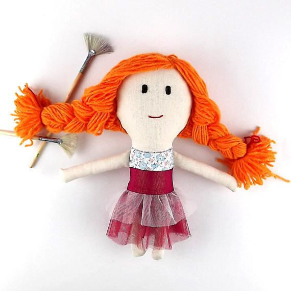 Little doll.Handmade doll. Doll cloth.Heirloom doll.Soft