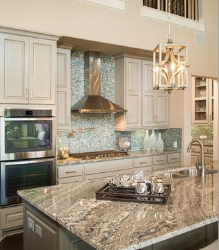 Cabinets Are Nebulous Gray Low Mocha Hilite Kitchen Island