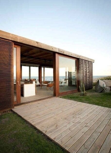 Like the big timber doors and windows