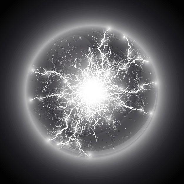 Illustration Transparent Light Effect Of Electric Ball Lightning Magic Plasma Ball Ball Lightning Lightning Energy Art