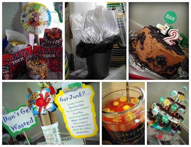 Garbage Truck Themed Birthday Party Food Junk Food To