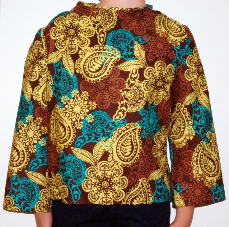 Adaptive Clothing, brown swirl using Westminster Fabrics from USA, 100% cotton. Love the design