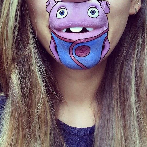 Best Cartoon Lips Images On Pinterest Makeup Art Lip Art And - Laura jenkinson mouth painting