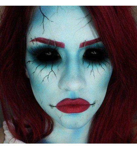 Maquillage d'Halloween : les yeux sans fond