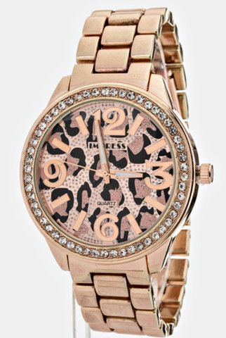Leopard Print Watch | $20.00 | www.ChampagneBlossom.com