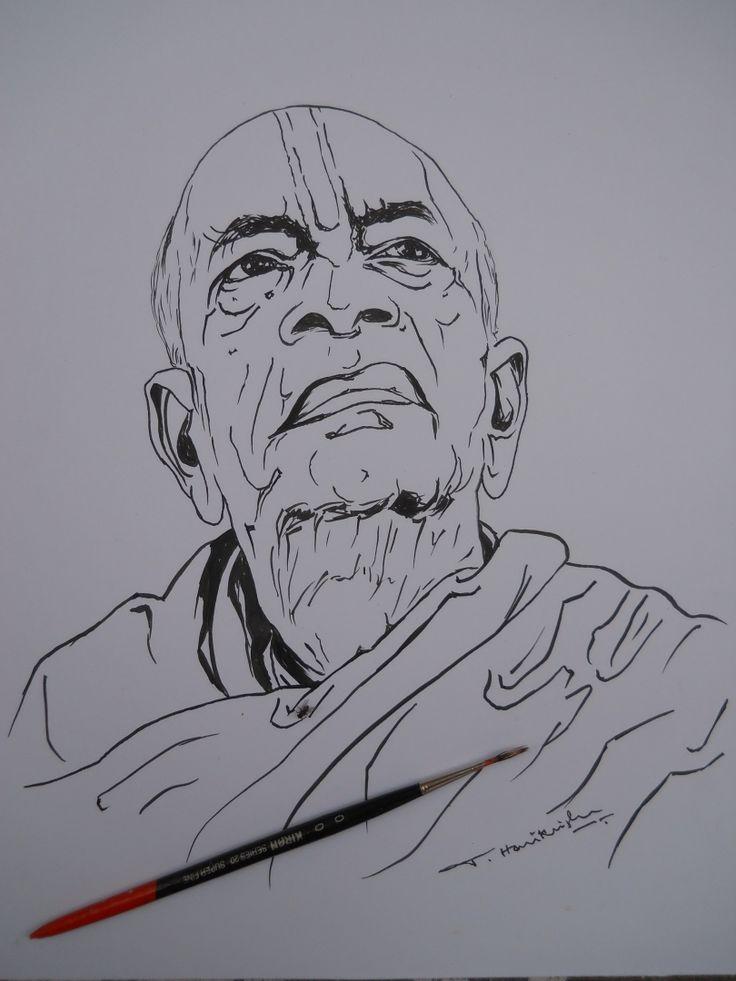 My Art Work... Indian Art ( Sri A.C Bhaktivedanta Swami Prabhupada )