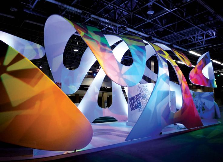 Modular and multi-sensory fabric exhibit. The design plays on concept of shadows…