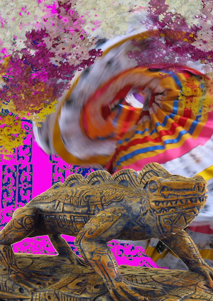 Mexico I Love You. Digital collage art by Yasmine Dabbous.