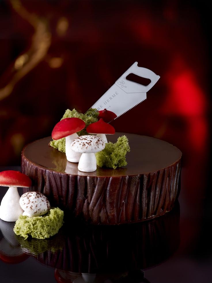 Pierre Herme: The Campaigns, Cake, Chocolate, Hermé Stone, Christmas, Buche De, De Noel, Dessert