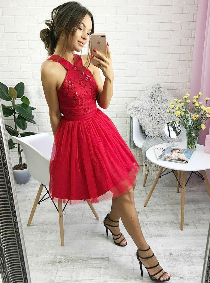 simple short red homecoming dresses 5a041b52b