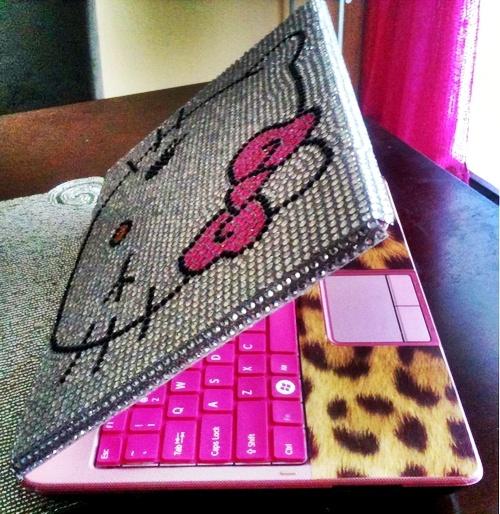 Hello Kitty Swarovski Crystal lap top cover