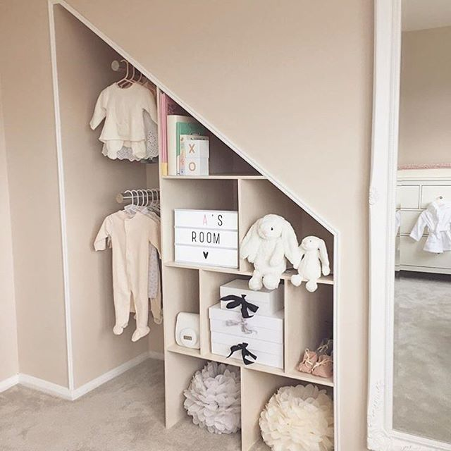 How Amazing Is This Custom Closet In A Nursery? Cute Styling, Too! Via
