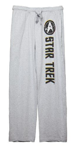 I would wear these to stream old Star Trek shows. Heck, I would wear these ALL the time. Better get a couple pair. Star Trek Logo Lounge Pants