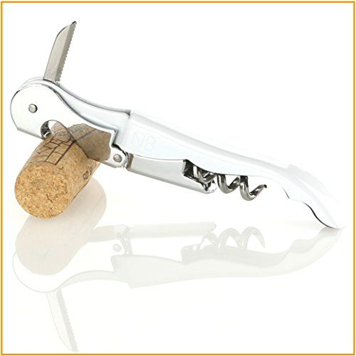 Korkenzieher - Kellnermesser - Sommeliermesser - mit Doppelhebel, Flaschen�ffner und Kapselschneider in einem - Naruba Premium (Weiss)